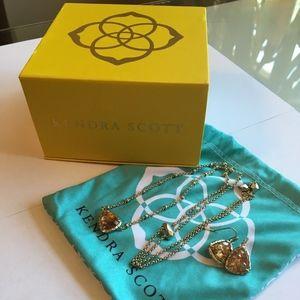 Kendra Scott Asher Earrings & Arleen Necklace Set